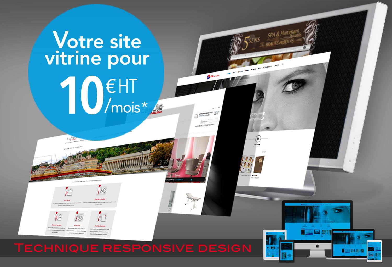 Promo site vitrine 10 € ht / mois